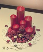 Red Candles by The-Golden-Princess