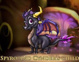 Spyro and Cynder's child by 10010010012