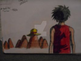 luffy and rocks coloured... by MelodyLockstar