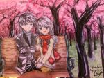 Under the cherry blossoms by RAM2Awsome