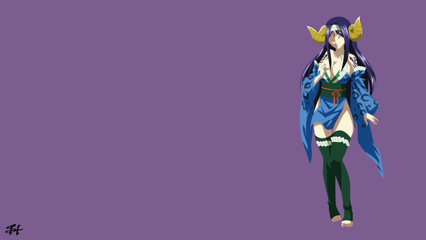 Seilah (Fairy Tail) Minimalist Wallpaper by slezzy7