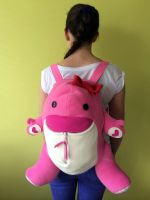 Pink Quaggan Backpack from Guild Wars 2 by FizziMizzi
