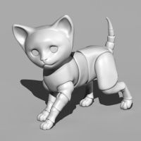 Bjd-cat-02 by leo3dmodels