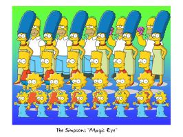 Simpsons Magic Eye by Superbdude1