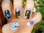 Corpse Bride Nails by jeealee