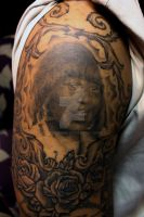 portrait of clients mother by embededink