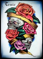 Skulls in the roses by TimHag