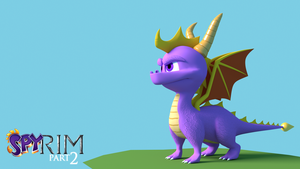 Spyro Model Textured by Morganicism
