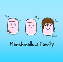 Marshamallow family by Ms-Hessah