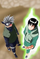 The Masters Arrivel ' Kakashi and Guy' by xTheMagicianx