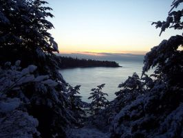 Whidbey Island: Snowy View I by Photos-By-Michelle