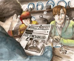 Harry Ron and Lupin by JebOfADown