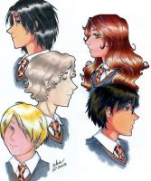 The Marauders and Lily by simplytonks