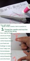 Hand Sewing Tutorial by SilkenCat