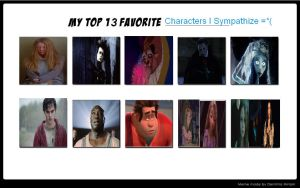 My Top 13 Favorite Characters I Sympathize by Normanjokerwise