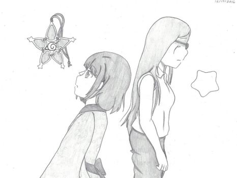 Tomoko and her Past Self by vongolafamily2256
