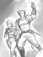 Conrad and Raene Doodle by LobsterVendetta