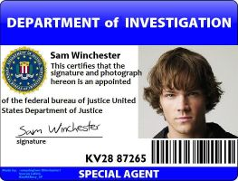 Sam Winchester ID by onepbigfans