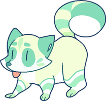 [CLOSED] that's a minty green raccoon by witchie-pie