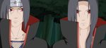 Itachi and Mimzy in The Forest by MimzytheBat