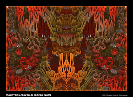 mountains carved of frozen flame by fraterchaos