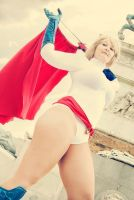 Power Girl with the cape by laNane