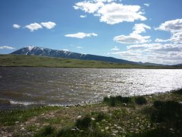 Mountain and Reservoir by MoonStar18