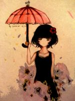 Red Umbrella Nishi by yune-d