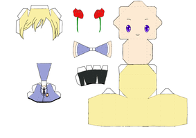 Tamaki Suoh Papercraft Template by groncaloncia