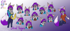 Commission: Miri's Expression Sheet by Mancoin