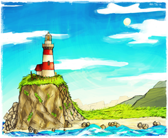 Lighthouse Landscape by beagleamarelo