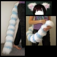 Lemur tail and Ear Set by StuffItCreations