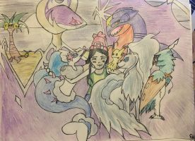 my pokemon moon team by AngelTrueSpirit