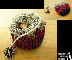 Silver Red and Black Bag by ChainedBeauty
