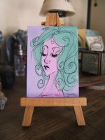 Mini Painting: Chelsie by SapphireKat