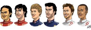 F1 drivers 2010, part 1 by forskuggad