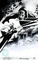 Thor vs Darkseid wake up and draw 2013 by TomKellyART