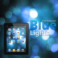 iPad Blue Lights Wallpaper by Martz90