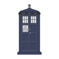 TARDIS- 1024x Canvas by Neshikuro