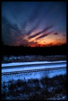 Sunset on the Tracks by FramedByNature