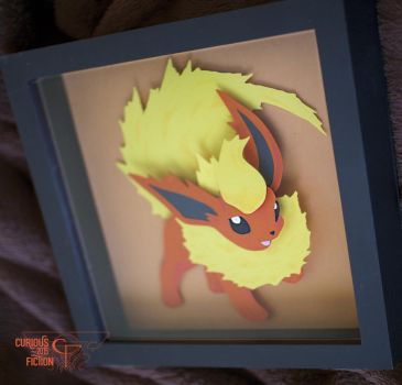 Pokemon #136 Flareon - 8x8 by CuriousFiction