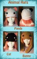 Animal hats by Minyatto