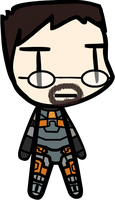 Walfas commission - Gordon Freeman (X2) by Rumiflan