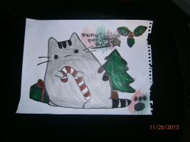 Happy Holidays From Pusheen The Cat by Bluedragon85
