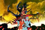 General Sunder in front of Horror Hall by queengrayskull