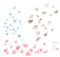 Collection of Eyes 4 by Pieology