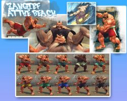 SSF4AE Zangief: At the Beach costume by sloth85