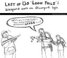 Last of Us Logic Fails: Steampunk Weapons by brensey