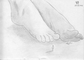 Giantess feet and the tiny mans by VRSeverson