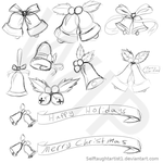 Clip art bells collection wip by selftaughtartist1